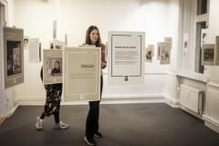 Mindefortællinger i udstillingen hos Landsforeningen Liv&Død
