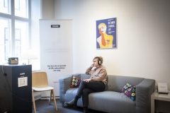 DR-lounge i udstillingen hos Landsforeningen Liv&Død
