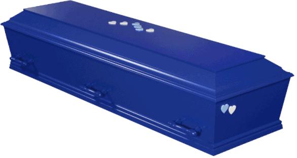 Blåfarvet kiste