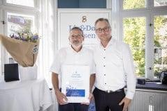 Thomas Gorlén sammen med formand i Landsforeningen Liv&Død, Michael Hviid Jacobsen.