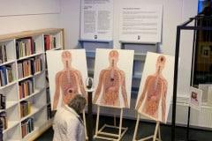 Udstillingen 'De døde i vores liv' på Biblioteket Sønderborg.