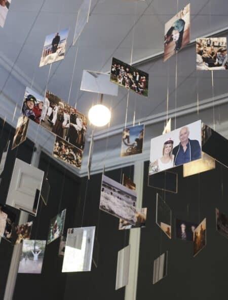 Temaet i dette rum er minder - bl.a. minder gennem billeder,
