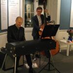 Søren Bebe Duo underholdt gæsterne bl.a. med jazzklassikere.