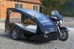 Harley Davidson rustvognsmotorcykel.